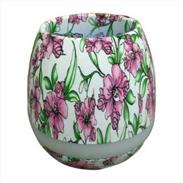 Wholesale Plastic Outdoor Plants - Newset TOKQI Bluetoth Smart Touch Music Flowerpots Plant Piano Music Playing Wireless Flowerpot colorful light Flower pots (whitout Plants)