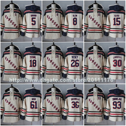 Wholesale Ice Wine Glasses - Stitched Mens New York Rangers Jerseys Hoodies 5 Dan Girardi 8 Kevin Klein 15 Tanner Glass 18 Marc Staal Jimmy 26 Vesey Hockey Jersey Hoodie