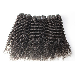 "Wholesale Mongolian Kinky Curl Weave - BQ Products Peruvian Hair Weave Mix length 3 bundles Kinky Curl human Hair Weft 8"" to 30"" beauty hair free shipping DHL"