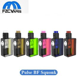 Wholesale Pulse Pink - Authentic Vandy Vape Pulse BF Squonk Kit 18650 20700 Ultem Box Mod with Pulse 24 Special Edition RDA 8ml 100% Original Vandyvape