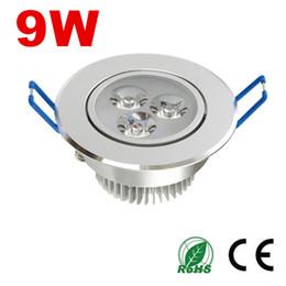 Wholesale Pc Spotlight - energy-saving LED downlight 9W 220V Ceiling light Indoor spotlight ceiling downlight embedded installation