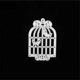 Wholesale Metal Bird Cages Decorative - Cutting Dies Bird Cage Steel For Scrapbooking Metal troqueles Photo Album Frame Decorative Embossing Folder Stencil