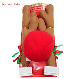 Wholesale Outdoor Reindeer Decorations - Christmas reindeer car decoration set reindeer Antlers Red Nose Car Kit Christmas Fun Rudolph Reindeer Ears ornaments gifts