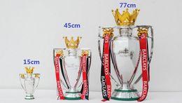 Wholesale Fa Shipping - FREE SHIPPING Huge 45CM 3KG FA Premier British Premier League Trophy Soccer Football Replica Trophy BPL W  RIBBON 2015 version