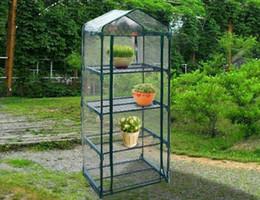 Wholesale Powder Coats - Hot 4 tier Mini Portable GreenHouse w Shelves Mini Green Plants House
