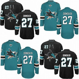 Wholesale 48 Sharks Jersey - Factory Outlet Mens San Jose Sharks 27 Joonas Donskoi (HOME GREEN AND THIRD BLACK) HOCKEY JERSEYS SIZE (M 48)(L 50)(XL 52)(