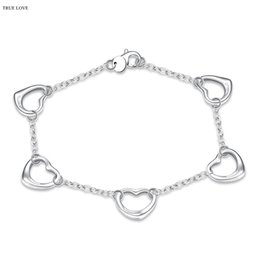 Wholesale Hottest South Korean Women - Heart-shaped charm bracelet 925 sterling silver fashion jewelry for women hot Korean style top quality free shipping