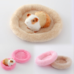 Wholesale Hamster Pets - 5 Colors Soft Fleece Pet Bed Mat Hamster Cricetulu Cozy Nest Warm Winter Bed Pet Supplies Goods Accessories