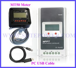 Wholesale Lcd Meter Solar - Tracer4210A 40Amp MPPT solar charge controller 12v 24v with LCD and MT50 meter
