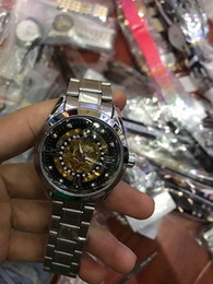 Wholesale Butterfly Shocks - 2017 AAA quality automatic date luxury fashion men mechanical automatic watch fashion all-steel hollow men's clock relogio masculino