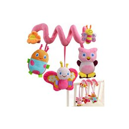 Wholesale Infant Lathe Hanging Toys - new infant Toys Baby crib revolves around the bed stroller playing toy car lathe hanging baby rattles Mobile 0-12 months