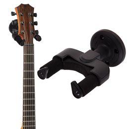 Wholesale mounting hooks - Wholesale- 14cm Plastic Guitar Hanger Holder Rack Bracket Hooks Stand Wall Mount Wall Hanging Hanger for all Size of Guitar