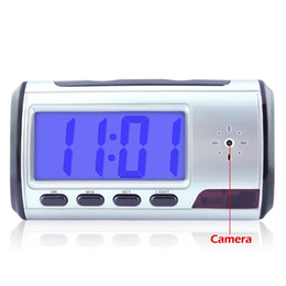 Wholesale Digital Spy Clock Motion - Spy Hidden Camera Clock HD 1280*960 Digital Alarm Clock Motion Detector Sound Recorder Digital Video Cam With Remote Control