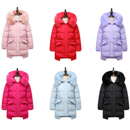 vêtements les plus récents Promotion Les plus récents Hiver Baby Girls Down Coats Les enfants épais Vestes chaudes Vêtements d'extérieur Outdoor Windproof Manteau Long type Parkas Down DC005
