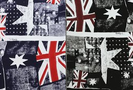 Wholesale tweed fabric wholesale - freeshipping! Wholesale 2colour British flag printing star pattern denim fabric, print satin fabric,tweed fabrics floral cotton fabric B199