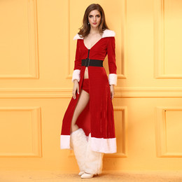 Wholesale Fun Gifts Adult - New 2017 hot sale sexy Christmas dress long sleeve adult fun Christmas dress Cosplay long Christmas dress Halloween gift