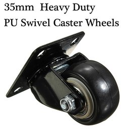 Wholesale Furniture Swivels - Heavy Duty PU Swivel Castor Wheels Trolley Furniture Caster Rubber