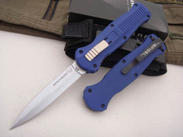 Wholesale Play Straight - Benchmade 440steel Blade 58HRC titanium alloy handle Double front straight play Kinfe survival outdoor free shipping