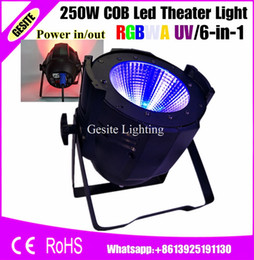Wholesale Pro Stage Lighting - Wholesale- 6pcs lot Good Quality Pro Stage Wedding NightClub Disco DJ Party Light 100W 200W 250W RGBWA UV 6-in-1 COB