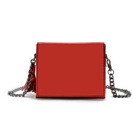 Wholesale Glossy Handbags - Wholesale-Women Little Square Bag Candy Colors Handbag Glossy Leather Punk Cross Body Messenger Bag Female Party Purse Shoulder Bag mx217