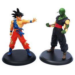 Wholesale Fine Toys - 1 set Dragon ball Action figures toy Goku & Piccolo 2 pcs set about 23cm high Fine gifts retail