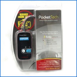 Lança scanner de código obd2 on-line-Frete Grátis 100% Original Portátil OBD2 Code Reader Lançamento Pocket Tech Regular Auto Scanner de Código + À VENDA!