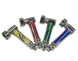 Wholesale Cheap Metal Smoking Pipes - Cheap mini SMOKING PIPES with Display smoking metal hand pipe tobacco pipe Mix designs