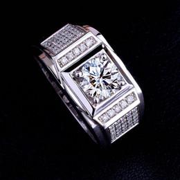 белое золото пары полос Скидка Размер 8-13 Оптовая новый мода мужчины ювелирные изделия 10kt белого золота заполнены Топаз имитация алмазов драгоценный камень обручальное кольцо кольца для пары подарок