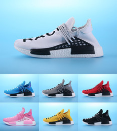 Wholesale Elastic Band Lace - Originals NMD HUMAN RACE Pharrell Williams x Yellow red black blue grey green white men women Classic Fashion Sport sneakers Shoes eur 36-44