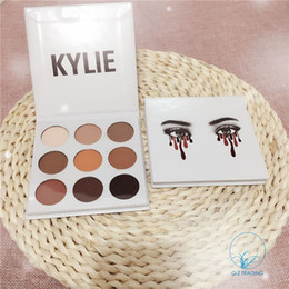 Wholesale Cosmetic Pallete - All 9 Colors Kyshadow Kit By Kylie Jenner Pressed Powder Eye Shadow Kyliee Cosmetics The Bronze Palette Matte Eyeshadow Pallete