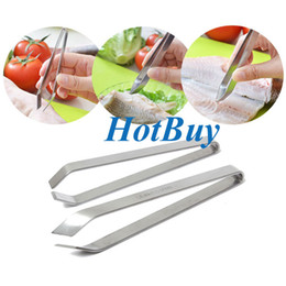 Wholesale Pincers Tool - Stainless Steel Fish Bone Remover Pincer Puller Tweezer Tongs Pick-Up Tool Craft #3842