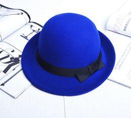 Wholesale Wholesale Felt Wool Womens Hats - Special Stingy Brim Fedora Hat Cap Winter Wool Felt Hat Cheap Womens Spring Fedoras Hats Ladies Caps Lady Autumn Headgear