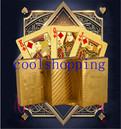 Wholesale Unusual Birthday Gifts - Certified Pure 24 K Carat Gold Foil Plated Poker Playing Cards w  52 Cards & 2 Jokers Special Unusual Gift Birthday Novelty