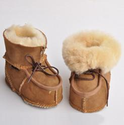 Wholesale Sheepskin Baby Boy - baby snow boots in winter girls sheepskin leather lace-up bows toddler shoes Newborn warm winter boots girls soft-soled boots T5086