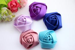 100pc / lot Satin Ruban Multilayers Tissu rose Fleurs Pour Bandeaux Kid Pure Main DIY Cheveux Accessoires ? partir de fabricateur