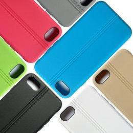 Wholesale Iphone Simple Cover - Good Feeling TPU Silicone Matte Case For iPhone 7 7 Plus Full Cover Simple Stylish Case with Line Streak With Package
