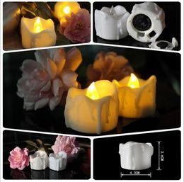Luces de Navidad 3.6 * 4.3 cm Funciona con batería Parpadeo Flameless LED drop tear vela Luz Fiesta de Cumpleaños de Boda Decoración de Navidad JF-170 desde fabricantes