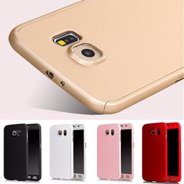 Wholesale Grand Covers - Hybrid 360 Degree Full Body Protection Cover Case For Samsung Galaxy S6 S7 J1 J5 J7 A3 A5 A7 2016 Grand Prime G530 With Tempered Glass
