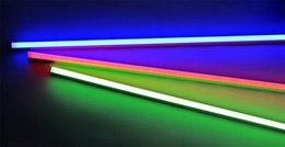 Wholesale Colorful Nature - T5 3ft integrated led tube light lamp 14W 60CM SMD 2835 red blue green purple warm nature cool white Indoor colorful T5 bulbs