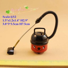Wholesale Plastic Dollhouse Dolls - 1 12 scale Dollhouse Miniatures Vacuum Doll House Mini Dummy Red Vacuum Cleaner Sweeper Aspirator Doll Houses Accessory Cute Smiling Vacuums