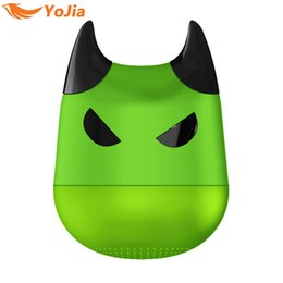 Wholesale Boom Phones - VONTAR Portable Wireless Mini Bluetooth Speaker Super Bass Boom box Sound box with Remote Shutter Function For Halloween