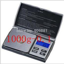 Wholesale Digital Mini Lab - 1000g 0.1g Mini Portable Digital Scale LCD Blance Weight 1KG 0.1 Lab Kitchen Jewelry Pocket Scales 100pcs lot