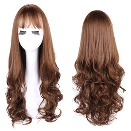 Wholesale Extra Long Lace Wigs - Best Sales Top quality extra long Colored curly synthetic lace front wig Free Shipping Haifa Wehbe Wig