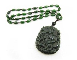 Wholesale Chinese Luck - Natural hetian jade hand-carved Guanyin Buddha jade pendant ethnic religious collections bring good luck Chinese Characteristics