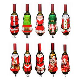 Wholesale Funny Christmas Decor - Mini Wine Bottle Apron Cover Birthday Wedding Anniversary Christmas Funny Gift Idea For Dinner Decor ZA5086