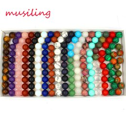 Wholesale Lapis Ball - Ball Beads DIY Jewelry Making 16mm Rose Quartz Amethyst etc Various Natural Stone Charms Fashion Findings Accessories
