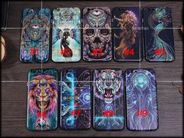 Wholesale Skeleton Phone Cases - 2016 tiger lion skeleton peacock dream catcher naked beauty Skyeye pattern phone case cover Fitted Case For iPhone 6 6s 6 plus iphone 5s SE