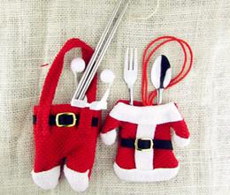 2019 держатели вилки ножей для рождества 2 шт./компл. Рождественская сумка держатель столовых приборов рождественские украшения для дома карманы ножи вилки сумка рождественские украшения дешево держатели вилки ножей для рождества