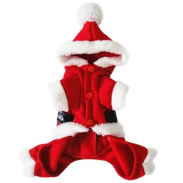 Wholesale Cheap Pet Costumes - Pet Puppy Dog Christmas Clothes Santa Claus Costume Outwear Coat Apparel NVIE Cheap apparel fitness