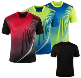 Wholesale Jersey Badminton New - Wholesale-New Genuine 2016 badminton shirt ,100% Polyester Quick dry absorbent tennis short-sleeved T-shirt couple badminton Jerseys 5042